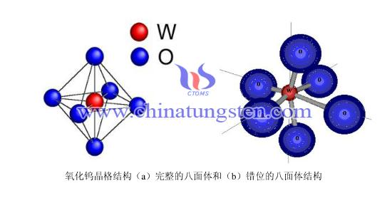 氧化钨晶体结构式类似于钙钛矿结构的八面体结构