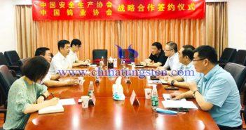 中國鎢業協會與中國安全生産協會簽訂戰略合作協議圖片