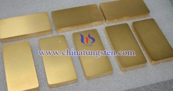 鎢合金鍍金塊圖片