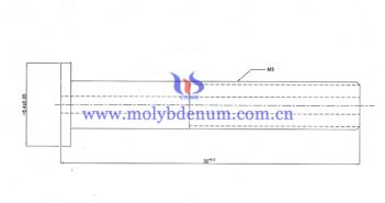 molybdenum tube with inner thread image