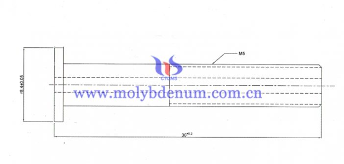 molybdenum tube with inner thread image