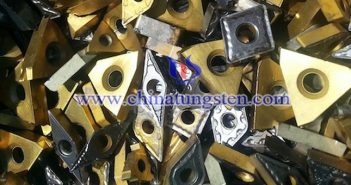 scrap tungsten carbide indexable inserts picture