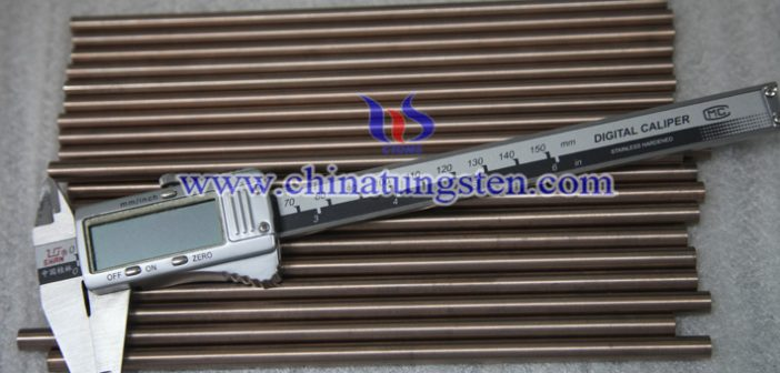tungsten copper alloy rod picture