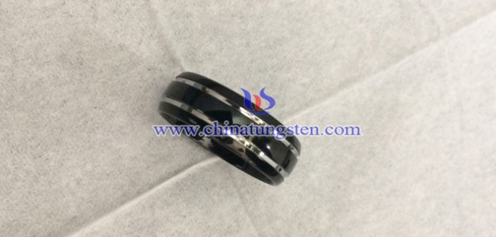 black tungsten ring image