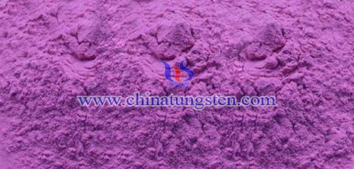 V-doped violet tungsten oxide Chinatungsten picture