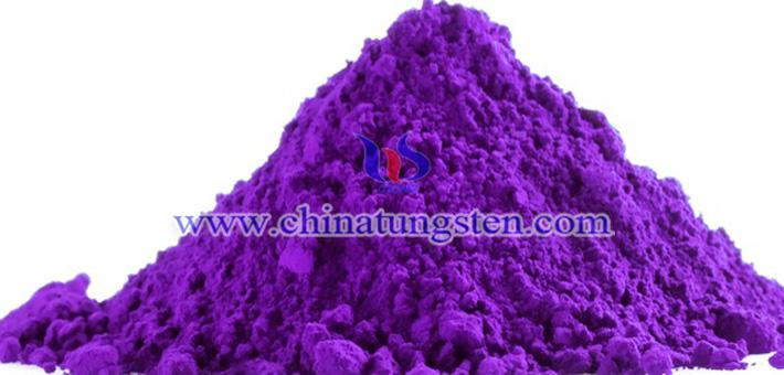 V-doped violet tungsten oxide picture