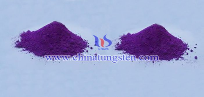 doped violet tungsten oxide picture