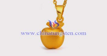 gold plated tungsten alloy apple pendant picture