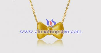 gold plated tungsten alloy bow pendant picture