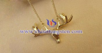 gold plated tungsten alloy buck pendant picture