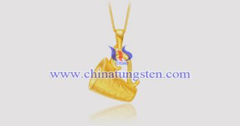 gold plated tungsten alloy cup pendant picture