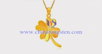 gold plated tungsten alloy lucky clover pendant picture