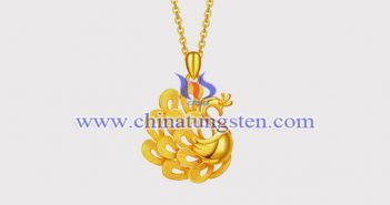 gold plated tungsten alloy peacock pendant picture
