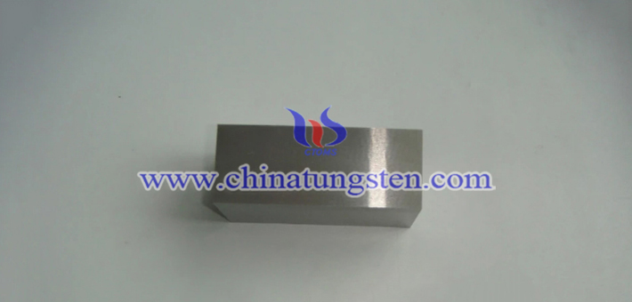 90W-7.1Ni-2.9Fe tungsten alloy block picture