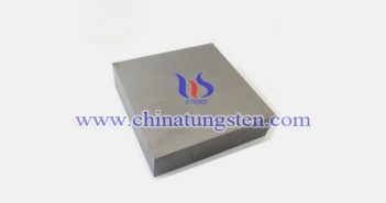 92.5W-5.25Ni-2.25Fe tungsten alloy block picture
