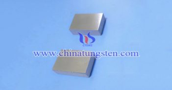 95W-4Ni-1Cu tungsten alloy block picture