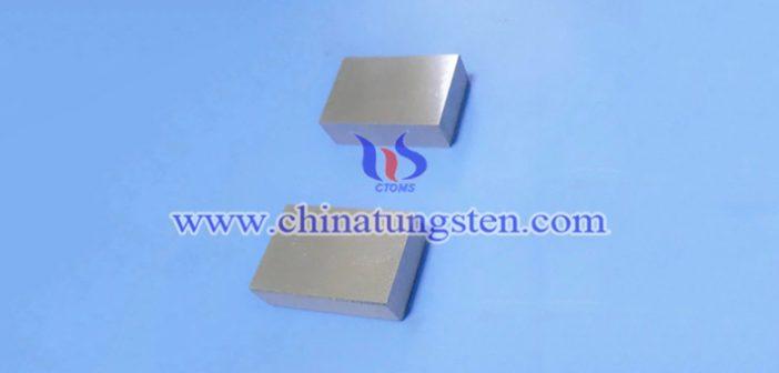 95W-4Ni-1Cu tungsten alloy block picture