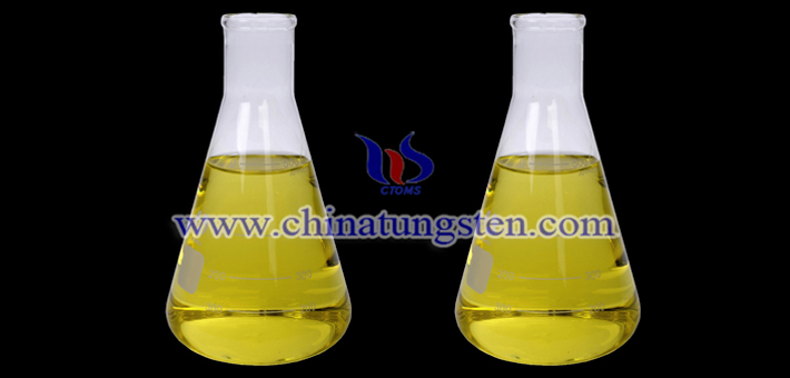 nano tungsten oxide applied for thermal insulation dispersion liquid picture