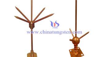 tungsten copper lightning rod picture