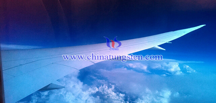 view from Boeing 787 electrochromic glass picture