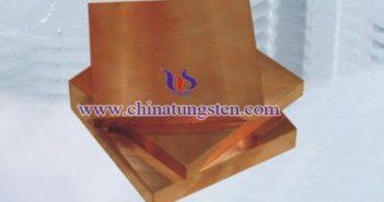10×100×100mm tungsten copper plate picture