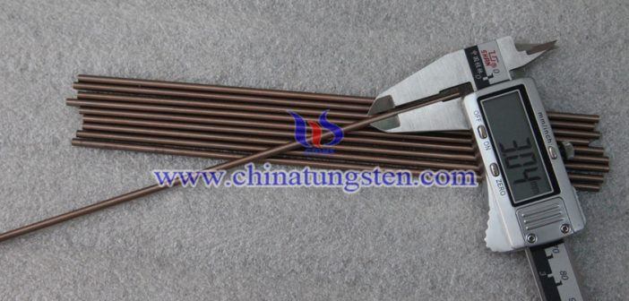 Ø3x200mm tungsten copper rod picture
