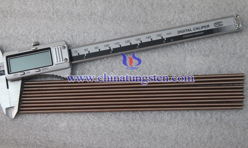 Ø5x200mm tungsten copper rod picture