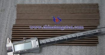 Ø7x200mm tungsten copper rod picture