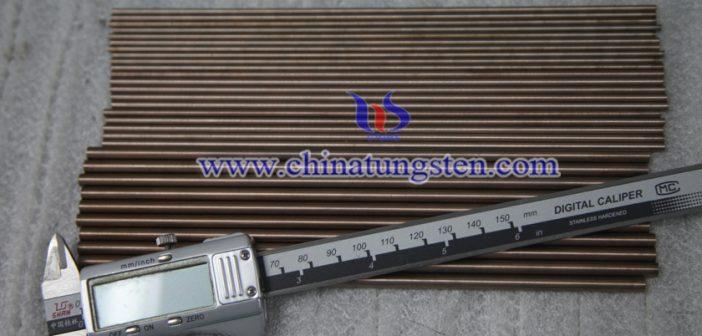 Ø7x200mm tungsten copper rod picture