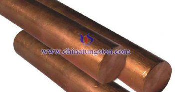 tungsten copper blank rod picture