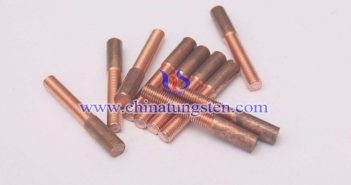 Copper Tungsten Thread Tapping Electrode Picture