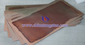 Tungsten Copper Slab Picture