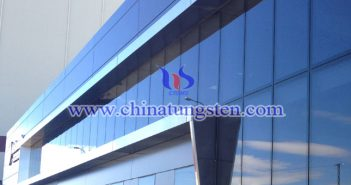 tungsten oxide powder applied for energy saving glass coating picture