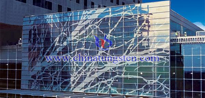 Tungsten Oxide Applied for Glass Curtain Wall Heat Insulation
