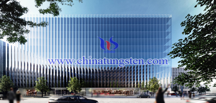 Tungsten Trioxide Applied for Glass Curtain Wall Heat Insulation