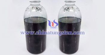 transparent aqueous dispersion of cesium tungsten bronze picture