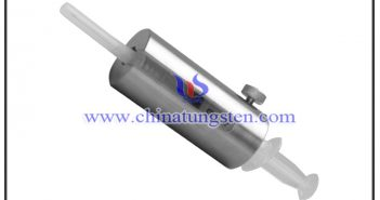 tungsten alloy syringe shield with lead glass window picture