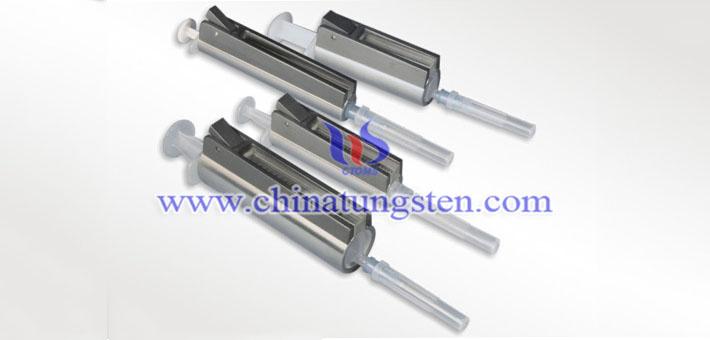 tungsten alloy syringe radiation shield picture