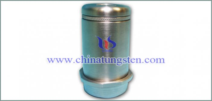 tungsten alloy vial shield with magnetic cap picture