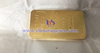 tungsten gold plated ingot picture
