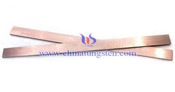 tungsten copper strip picture