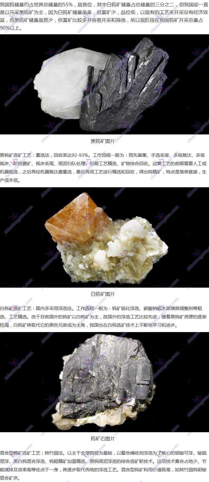 钨的选矿工艺图片