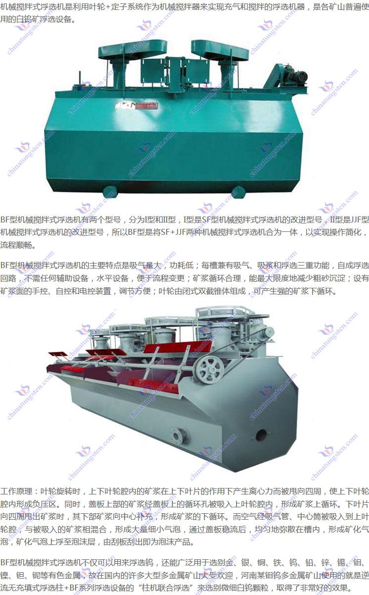 BF型机械搅拌式浮选机图片