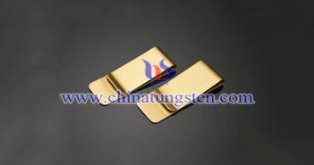 钨合金镀金钞票夹图片