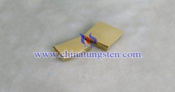 钨合金镀金产品图片