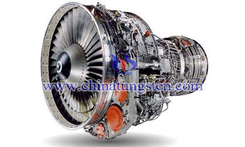 钨合金应用在飞机发动机图片