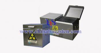 工业用钨辐射防护箱图片
