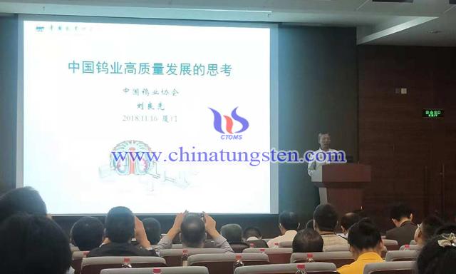 刘良先副会长作我国钨业高质量发展的思考专题报告