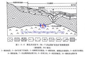 黑色页岩型Ni-Mo-V多金属矿床预测模型图