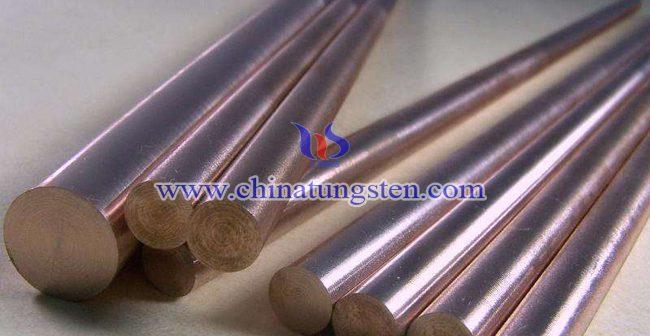 W60钨铜合金棒图片